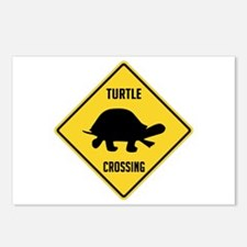 Turtle Crossing Sign Postcards (Package of 8)