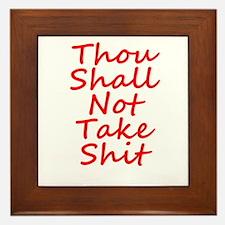 Thou shall not, Framed Tile