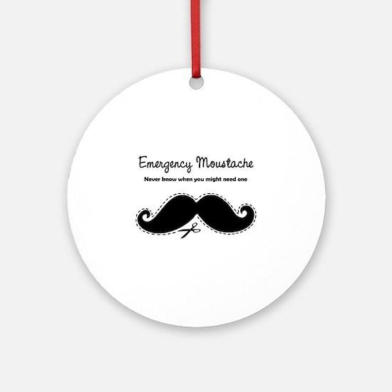 Emercency Moustache Ornament (Round)