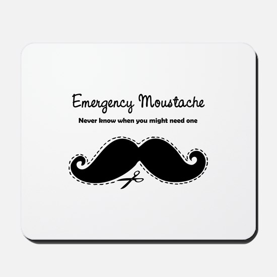 Emercency Moustache Mousepad