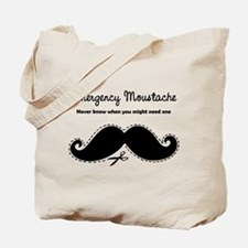 Emercency Moustache Tote Bag