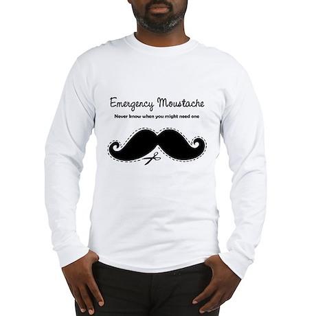 Emercency Moustache Long Sleeve T-Shirt