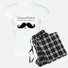 Emercency Moustache Pajamas