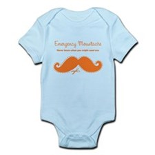 Emercency Moustache Infant Bodysuit