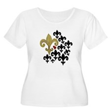 Gold & Black Fleur de lis T-Shirt