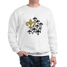 Gold & Black Fleur de lis Sweatshirt