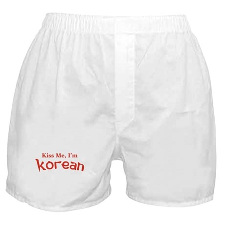 Kiss Me, I'm Korean Boxer Shorts