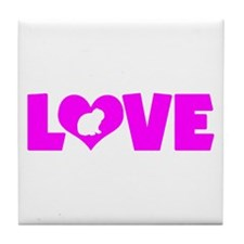 LOVE LOP RABBIT Tile Coaster