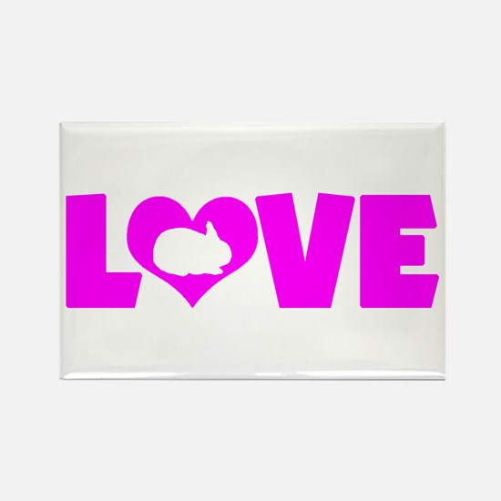 LOVE RABBIT Rectangle Magnet