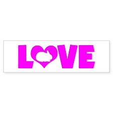 LOVE RABBIT Bumper Sticker