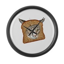 Cat Breading! Large Wall Clock