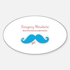 Emercency Moustache Decal