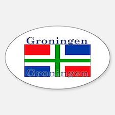 Groningen Gronings Flag Oval Decal