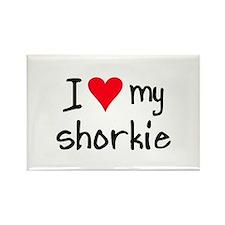 I LOVE MY Shorkie Rectangle Magnet