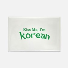 Kiss Me, I'm Korean Rectangle Magnet