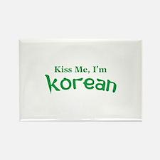 Kiss Me, I'm Korean Rectangle Magnet (100 pack)
