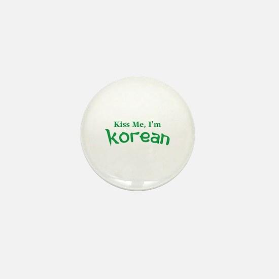 Kiss Me, I'm Korean Mini Button