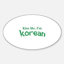 Kiss Me, I'm Korean Decal