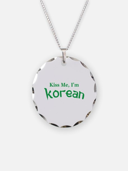 Kiss Me, I'm Korean Necklace
