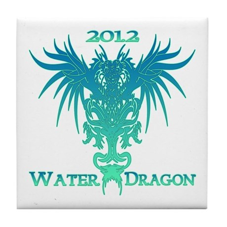 Chinese Water Dragon 2012 Tile Coaster