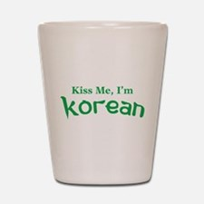 Kiss Me, I'm Korean Shot Glass