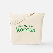 Kiss Me, I'm Korean Tote Bag