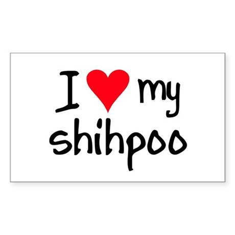 I LOVE MY Shihpoo Sticker (Rectangle)