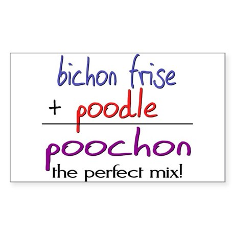 Poochon PERFECT MIX Sticker (Rectangle)