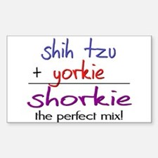 Shorkie PERFECT MIX Decal