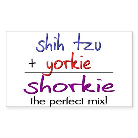Shorkie PERFECT MIX Sticker (Rectangle)