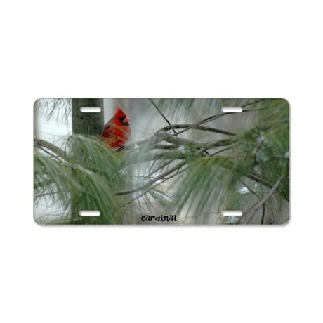 Cardinal Aluminum License Plate