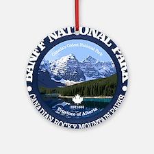 Banff National Park Round Ornament