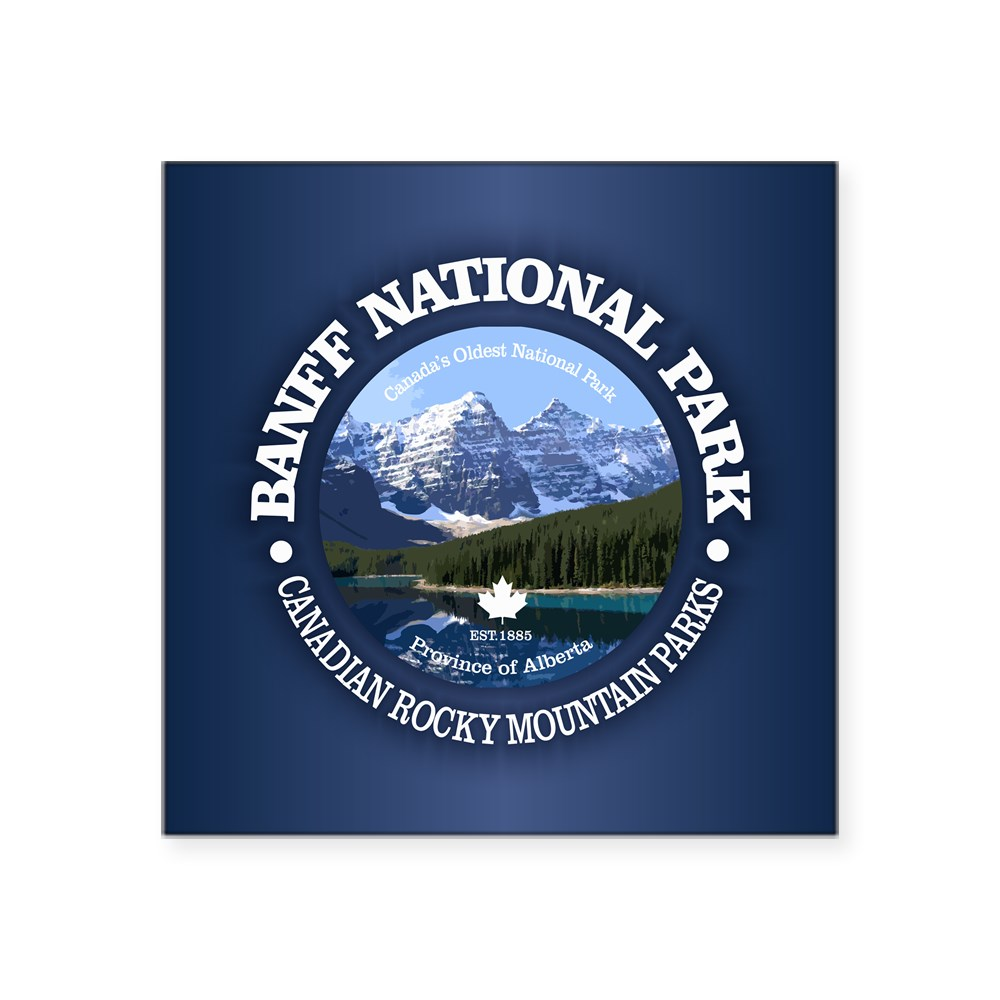 CafePress Banff National Park Sticker Square Sticker 61726709