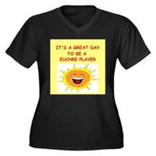 great day designs Women's Plus Size V-Neck Dark T-