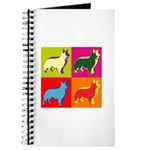 Collie Silhouette Pop Art Journal