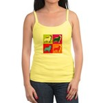 Collie Silhouette Pop Art Jr. Spaghetti Tank