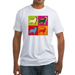 Collie Silhouette Pop Art Fitted T-Shirt