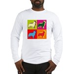 Collie Silhouette Pop Art Long Sleeve T-Shirt