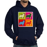 Collie Silhouette Pop Art Hoodie (dark)