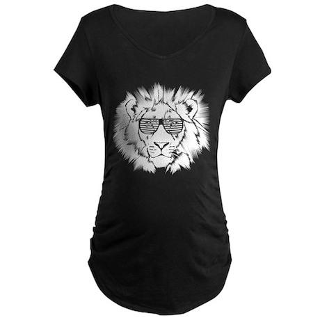 Funky Lion - Darks Maternity Dark T-Shirt