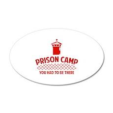 Prison Camp 22x14 Oval Wall Peel