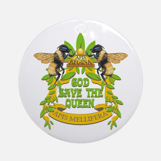 God Save the Queen Ornament (Round)