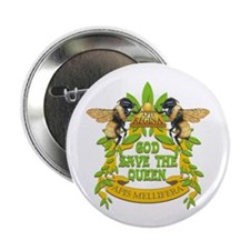 """God Save the Queen 2.25"""" Button (10 pack)"""