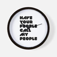 Call My People Wall Clock