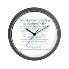 You Know You're a Runner If Wall Clock