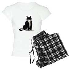 Black and White Tuxedo Cat Pajamas