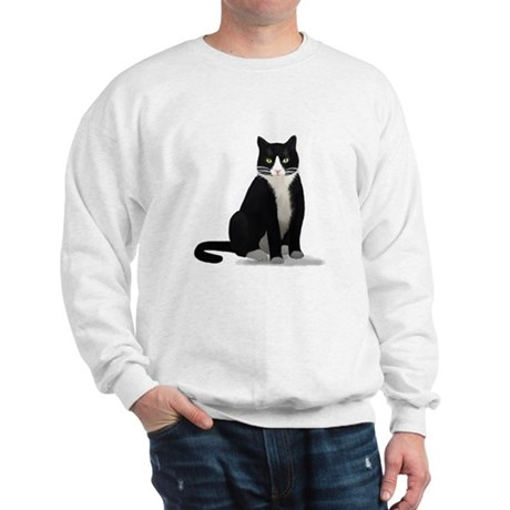 Black and White Tuxedo Cat Sweatshirt