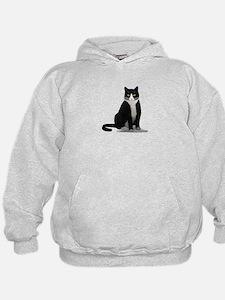 Black and White Tuxedo Cat Hoodie