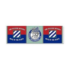 Cute 3rd infantry division rock of the marne Car Magnet 10 x 3