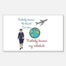 Nobody Knows The Travel I've Seen Decal
